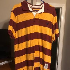 Striped men's polo
